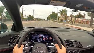 2020 Audi R8 V10 Performance Spyder POV Test Drive (3D Audio)(ASMR)