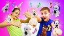 Новые игрушки детям. Интерактивные питомцы Светомузики. Видео для мальчиков и девочек.