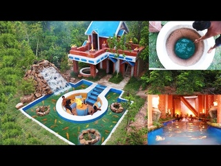 Spent185 Days To Build Awesome Golf Villa, Swimming pool, Aquarium Artificial Waterfall & Waterwell