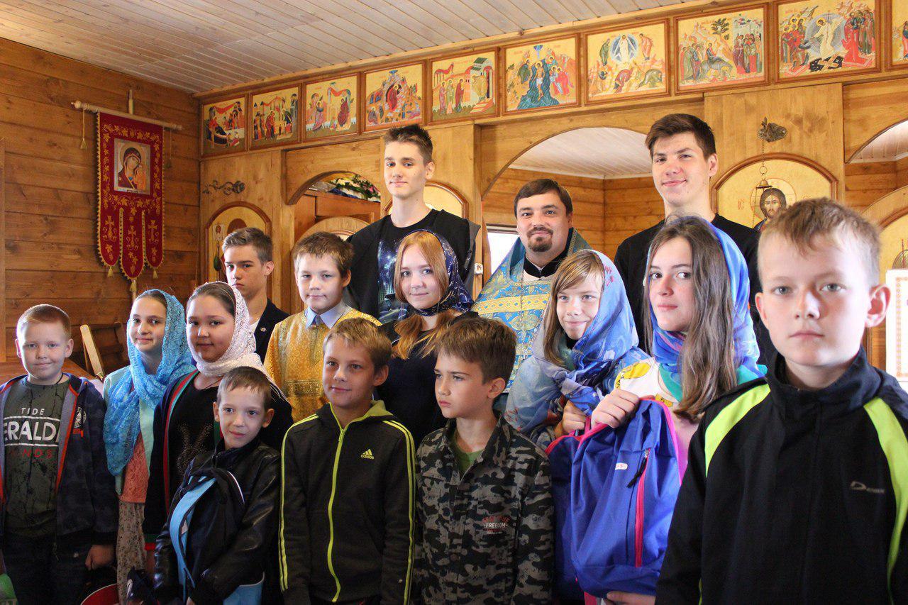 Акция «Рюкзачок добра» завершилась в храме в Некрасовке
