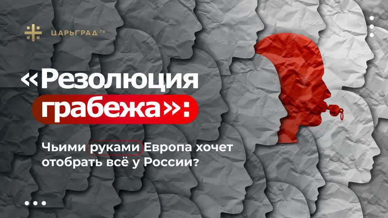 Резолюция грабежа Чьими руками Европа хочет отобрать всё у России