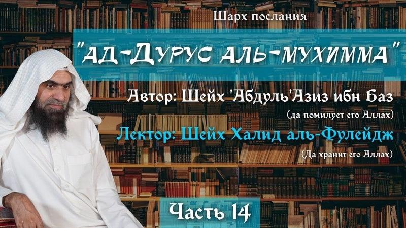 Важные уроки 14 22 Десять условий малого омовения Шейх Халид аль Фулейдж