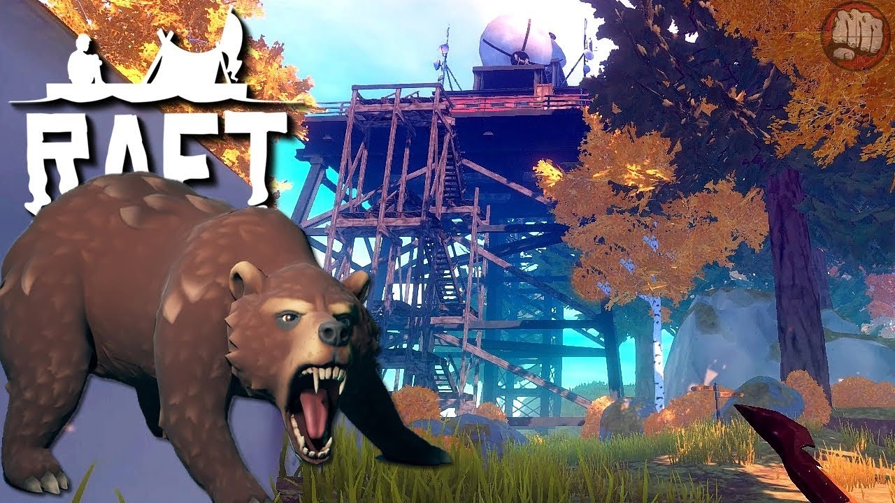 Медведица в игре Raft