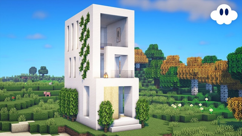 Minecraft How to Build a Small Modern House Town House