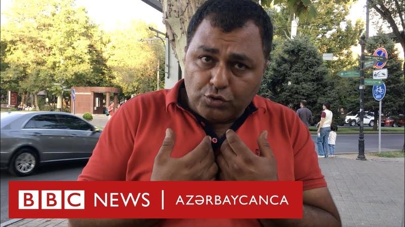 İranlı sürücülər Yerevanda Erməni maşını keçir İran maşınını saxladır
