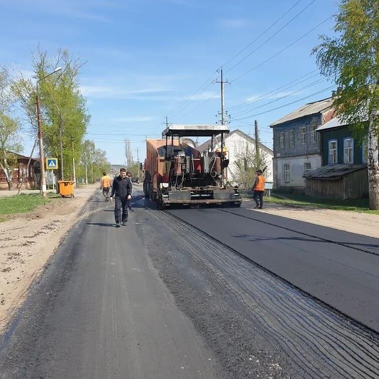 В Петровске продолжается ремонт проезжей части улицы Ломоносова