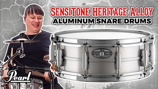 Pearl SensiTone Heritage Alloy Aluminum Snare Drums