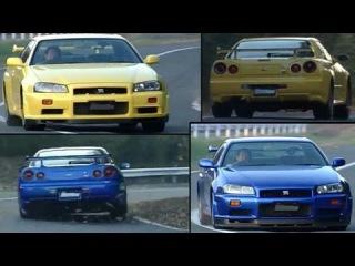 Nissan Skyline R34 GT-R Vs R34 GT-R V-Spec