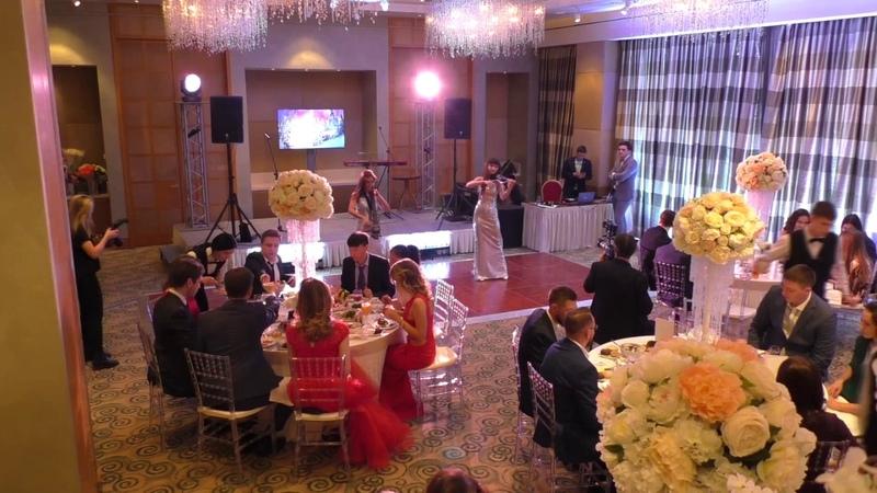 Электроскрипка и электровиолончель на свадьбе