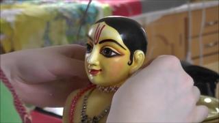 Sri Sri Sita Ram Laksman Hanuman getting ready for Rama Navami festival