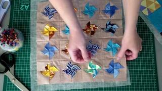 Это не пэчворк, а оригами какое-то! Третий декор для интерьера из весового лоскута✅