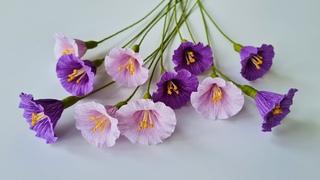 How To Make Morning Glory Paper Flower #2 / Paper Flower / Góc nhỏ Handmade