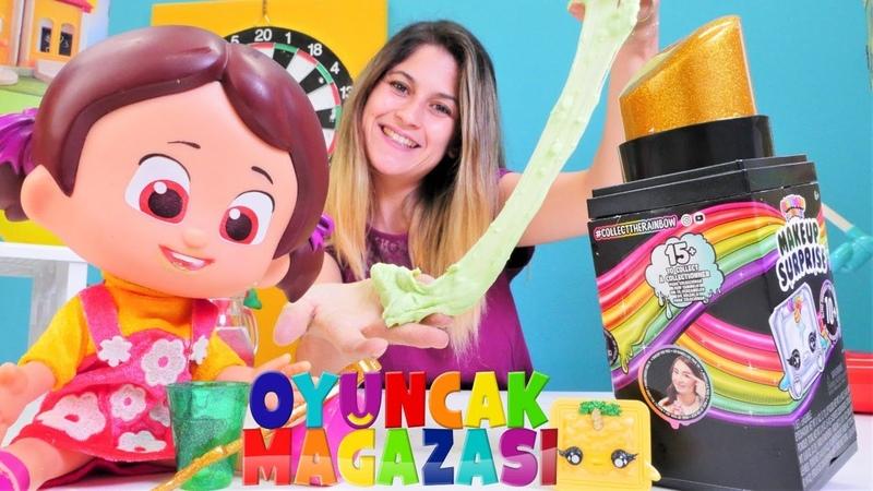 Slime video. Ayşenin oyuncak mağazası Niloya ile! Poopsie Rainbow Makeup Surprise!