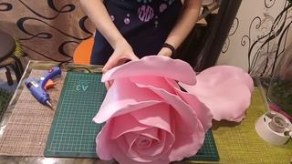 Торшер - светильник роза из изолона.  Часть 3 сборка бутона с 5 по 8 ряд