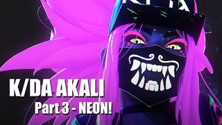 K/DA Akali NEON - Part 3 - Blender 3D Timelapse
