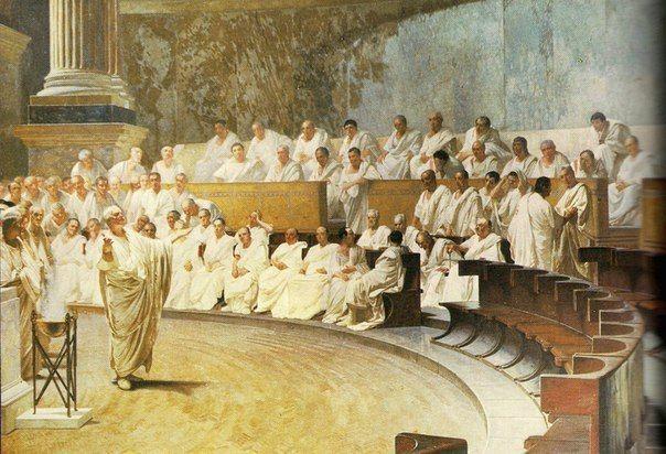 Сенат Сена́т (лат. senatus, от senex старик, совет старейшин) один из высших государственных органов в Древнем Риме.Возник из совета старейшин патрицианских родов в конце царской эпохи (около VI