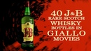 J B Rare Scotch Whisky bottles in Giallo Movies
