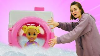 Приключения БАРБИ - Видео для девочек - Кен и Штеффи устроили дома потоп