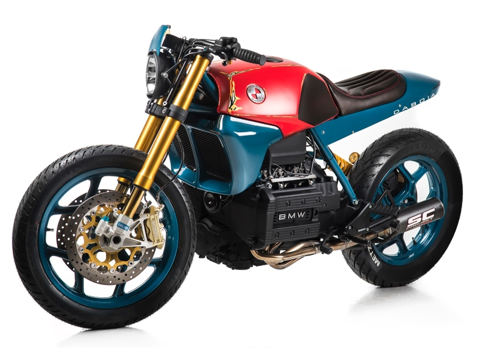 Matteucci Garage: кафе рейсер BMW K75 Daboia