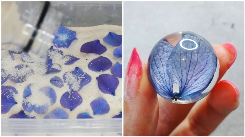 Hydrangea Step by step AMAZING DIY IDEAS FROM EPOXY RESIN 20 COLORFUL EPOXY RESIN
