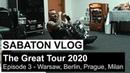 SABATON Vlog - The Great Tour 2020 - Episode 3 Warsaw, Berlin, Prague, Milan