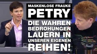 Fraktionslose FRAUKE PETRY attackiert Merkel SCHARF! | Selbstbewusst & OHNE Maske | #Repost