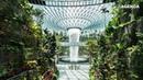 Водопад в аэропорту / Singapore Jewel Changi Airport: Tallest indoor waterfall