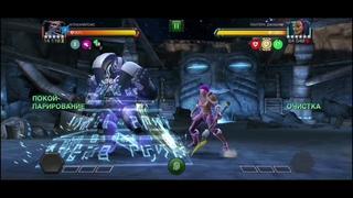 Апокалипсис VS Пантера Джабари/Сложность Рыцарь/Марвел битва чемпионов