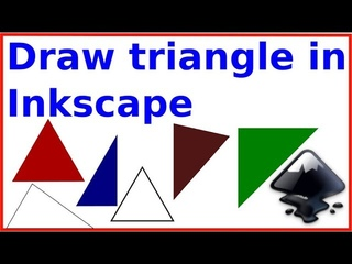 Draw a triangle in Inkscape in five different ways