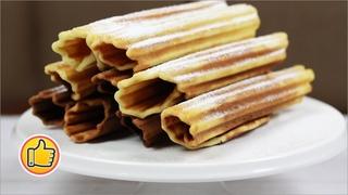 Вафельные трубочки на гриле / простой рецепт хрустящих и очень вкусных трубочек