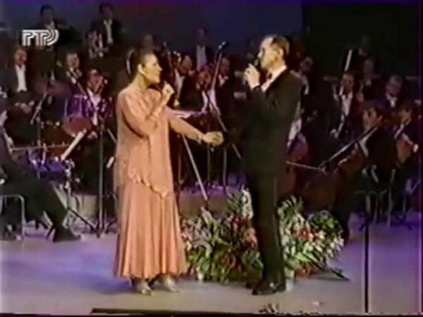 Валентина Толкунова и Леонид Серебренников Школьные товарищи