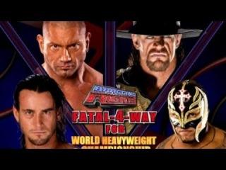 WWE Bragging Rights 2009 Undertaker vs CM Punk vs Batista vs Rey Mysterio