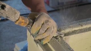 Армирование углов кладки пазогребневых блоков ПГП, армирование стыков со стенами