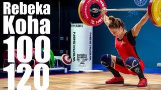 Rebeka Koha (58kg Latvia) 100kg Snatch 120kg Clean and Jerk - 2018 European Champion