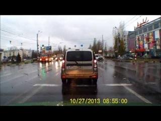 ДТП Нижний Новгород 27 10 2013 перекрёсток пр Ленина б р Заречный 27 10 13