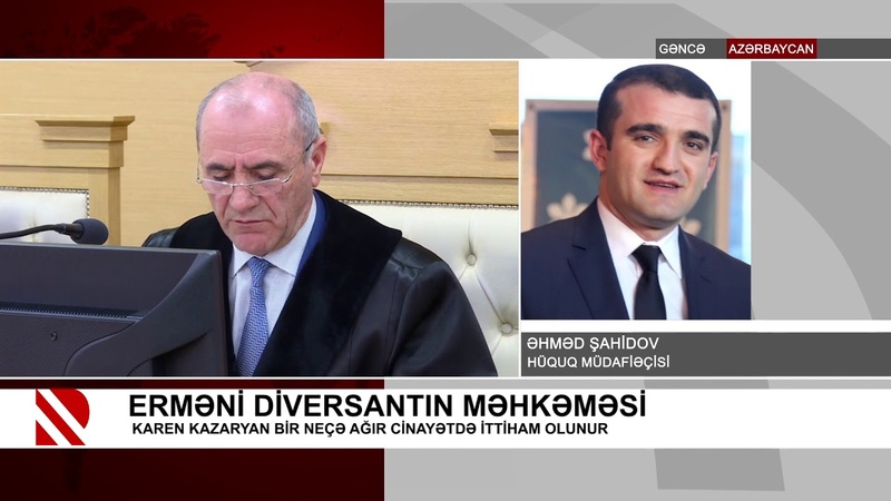 Erməni diversantın məhkəməsi