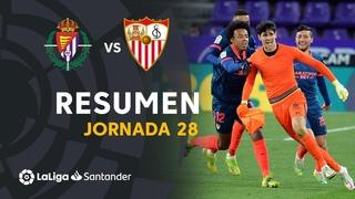 Resumen de Real Valladolid vs Sevilla FC (1-1)