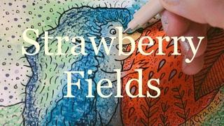 """Watercolor speedpaint TIME-LAPSE """"Strawberry Fields"""""""
