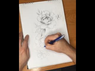 Процесс создания эскиза