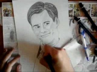 Speed Drawing Jim Carrey