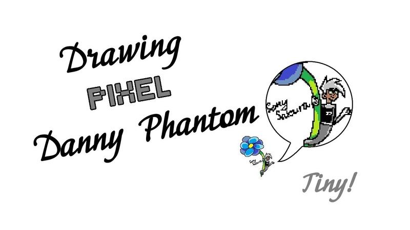 Рисую пиксельного Дэнни (Дэнни-призрак; MS Paint, ускорено в 8 раз)