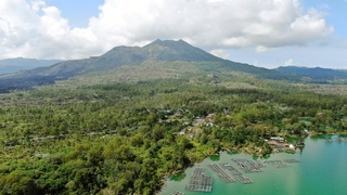 🇮🇩 Volcano Batur and Lake / Bali Mountains / Indonesia [4K Ultra HD video from drone]