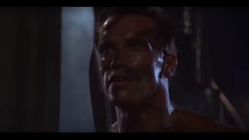 Ножевой бой со Шварцнегером фильм Командо 1985 Командос отрывок фрагмент