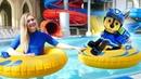 Сказки для Чейза Щенячий патруль - Гонки в аквапарке - Машины сказки из игрушек