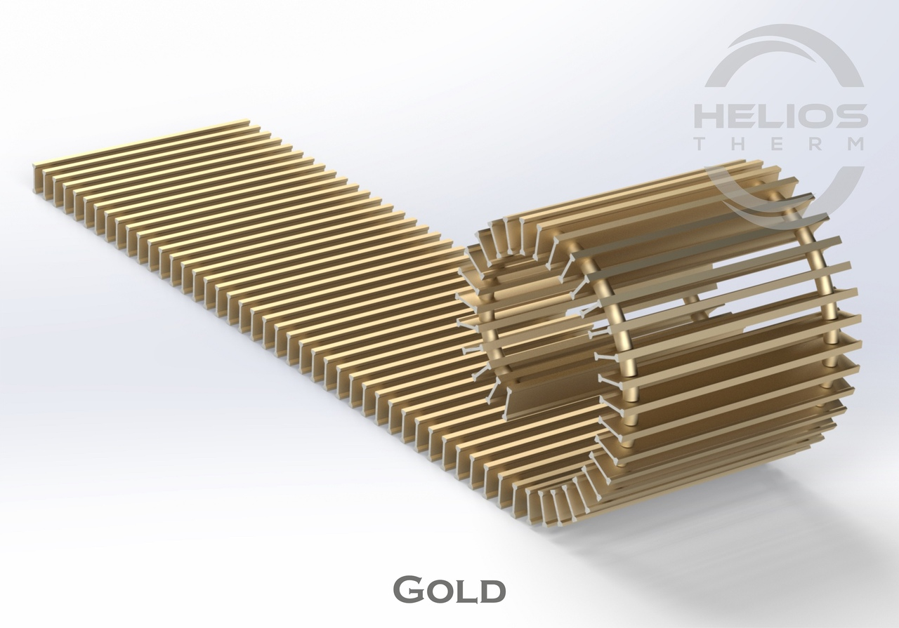 Решетка конвектора Helios Therm Gold