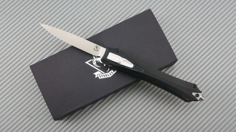 Фронтальный нож Steelclaw Бретер 2 клинок D2 рукоять алюминий