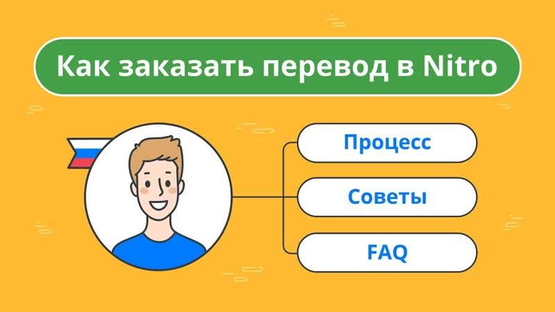Nitro онлайн служба профессионального перевода обучающий ролик