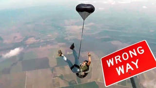 Friday Freakout: Unstable Skydiver Gets Entangled With Parachute Bridle
