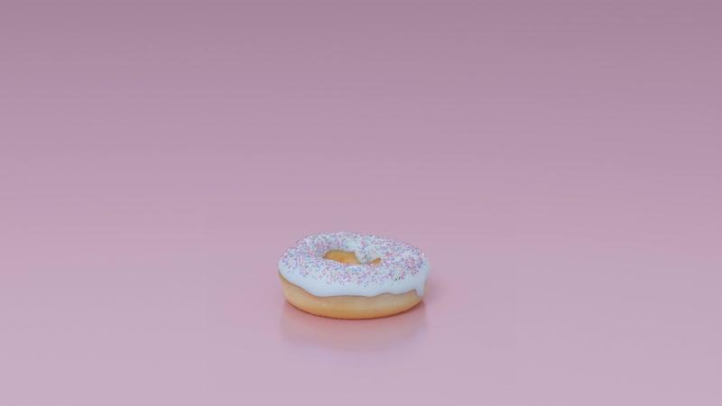 4K 60fps Animated donut