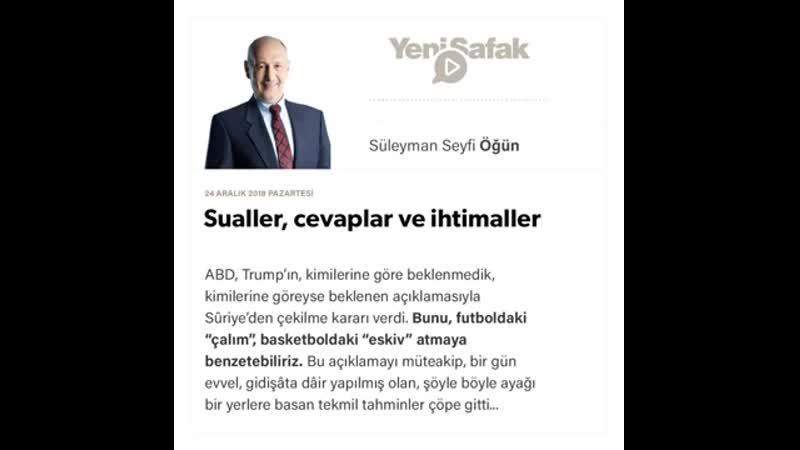 Süleyman Seyfi Öğün - Sualler, cevaplar ve ihtimaller - 24.12.2018